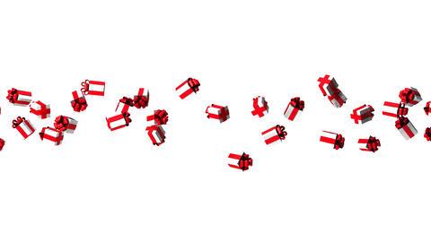 Gift Boxes On White Background Animation