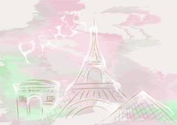 paris, abstract skyline Vector