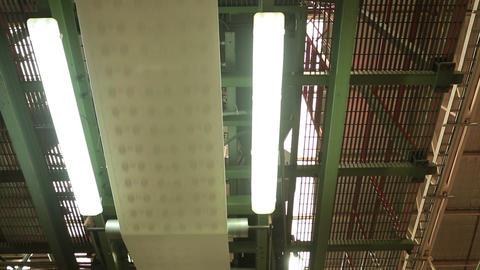 Paper on conveyer belt Footage