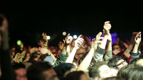Audience at concert Footage