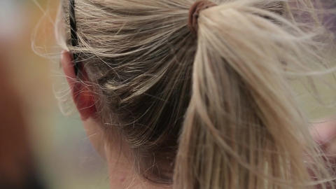 Woman's head Footage