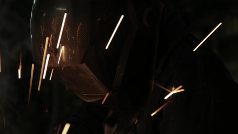 Industrial welder at work Live Action