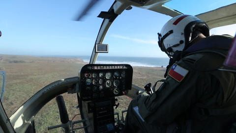 Pilot handling helicopter Footage
