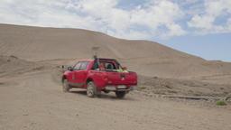 Deserted landscape with truck Live Action