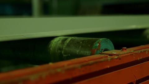 Metal rollers in factory Footage