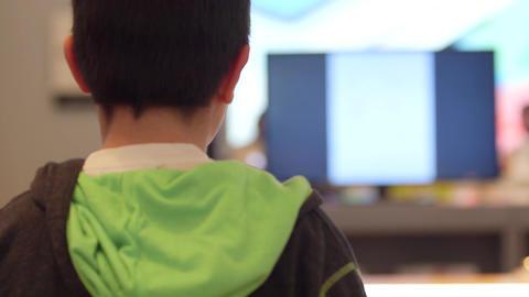 Child profile Stock Video Footage