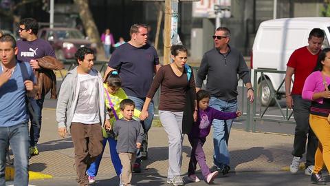 People crossing street Footage