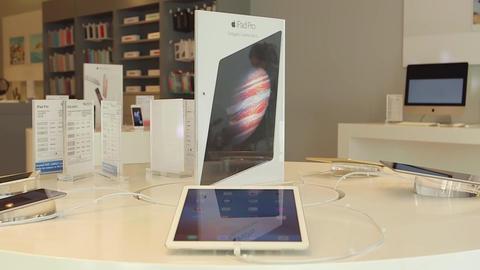 iPad on display Footage