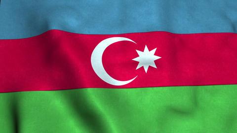 Azerbaijan Flag CG動画素材