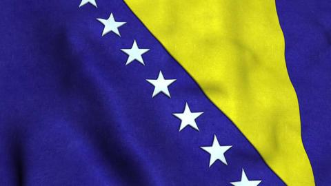 Bosnia-herzegovina Flag Animation