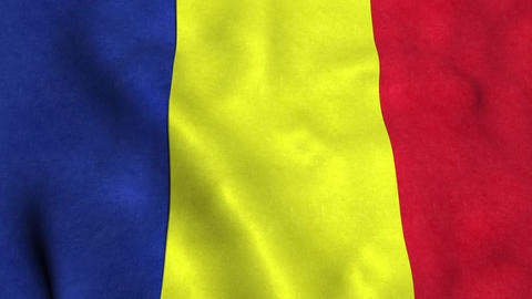 Chad Flag CG動画素材