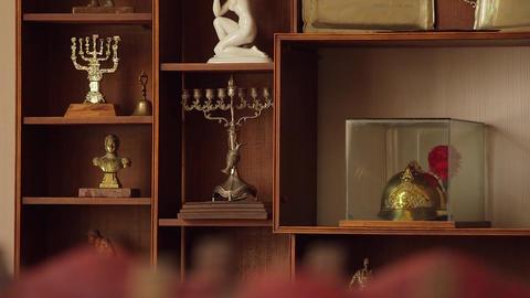 Shelf with items Footage