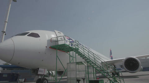 Airplane nose with staircase Live Action