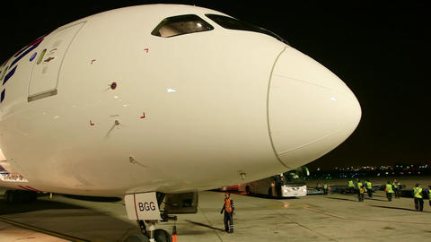 Airplane nose at night Live Action