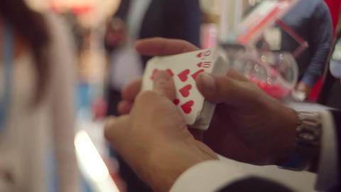 Magician performing Footage