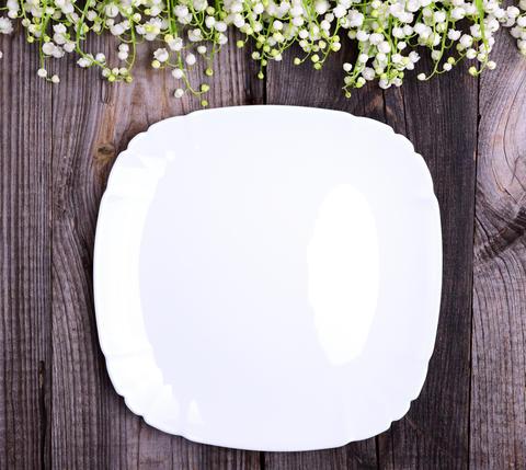 White empty plate Foto