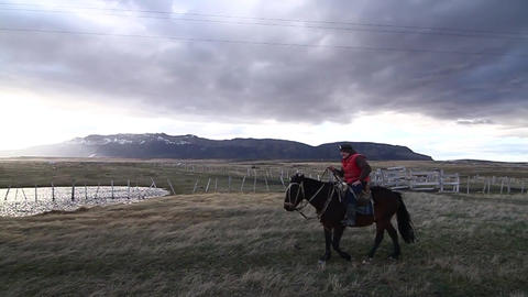 Man on horseback Footage