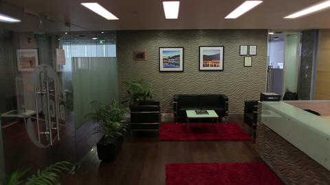 Office reception desk Footage