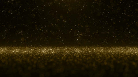 Particles gold bokeh glitter awards dust abstract background vj loop CG動画素材