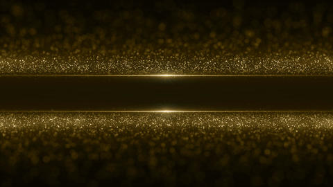 Particles gold bokeh glitter awards dust abstract background vj loop Image