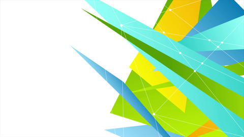 Colorful abstract tech polygonal video animation Animation