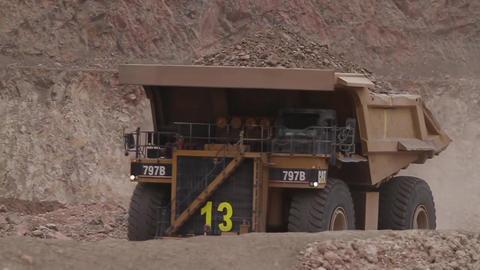 Mining trucks Footage