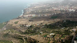 Spain The Canary Islands Tenerife aerial photograph from island landscape ビデオ