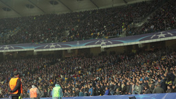 The fans in large stadium. People, crowd, football fans Footage