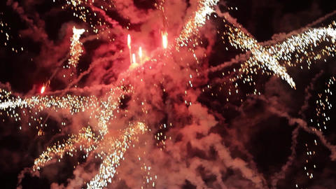 Fireworks in the sky celebrating lunar new year 7 Footage