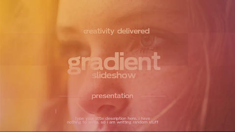 Gradient Slideshow Premiere Pro Template