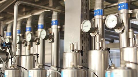 Bottle production machine Footage