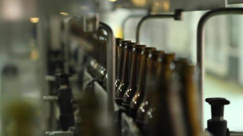 Bottle production line Footage