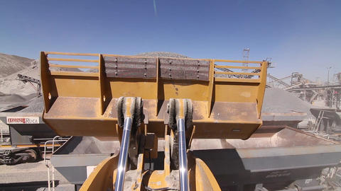 Stone-crushing machine Footage