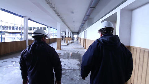 Engineers inside building Footage
