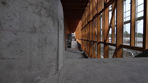 Construction site interior Footage