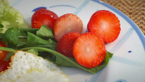 Breakfast Foods with Strawberries Live Action