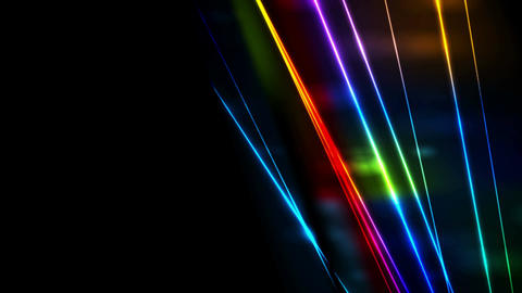 Retro neon glowing colorful laser beams video animation Animation