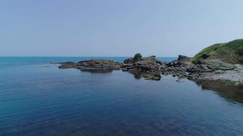 Day sea and rocky coast Footage