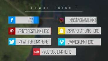 Minimal Social Media Lower Thirds Motion Graphics Template