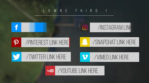 Minimal Social Media Lower Thirds Motion Graphics Template