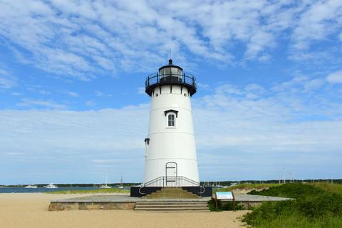 Edgartown Harbor Lighthouse, Martha's Vineyard, MA, USA Fotografía