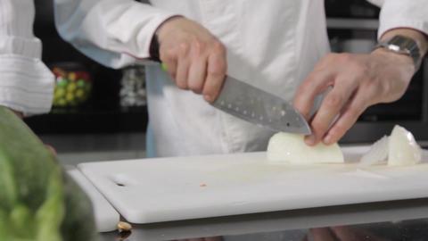 Cutting veggies Footage