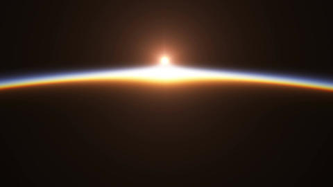 Beautiful And Realistic Sunrise Over The Earth. 4K Animation