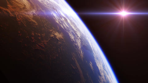 Beautiful View Of Planet Earth From Space. Ultra High Definition. 4K Animation