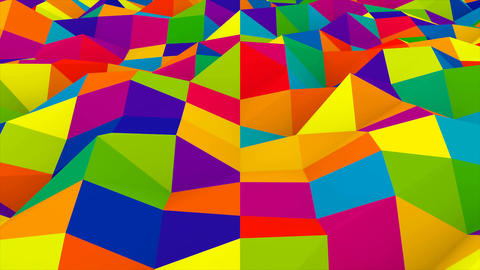 Abstract Colorful Low Poly Background Animation
