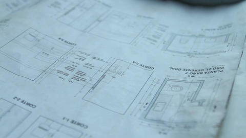 Architectural blueprints Footage
