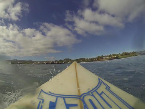 Riding surfboard Footage