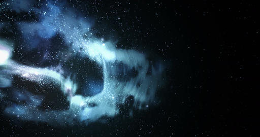 Frozen Nebula in Space Full 4K Loop Background Animation