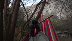Sleeping in hammock Footage