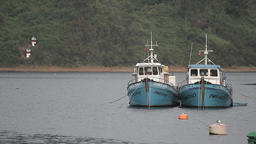 Boats on lake Footage